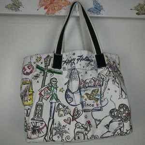 Brighton Happy Holidays large cotton tote bag